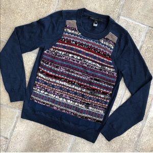 Marc Jacobs Navy Sequin Wool Sweater S